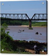 Fishing At The Red River Acrylic Print
