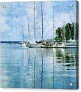 Fishing Bay Reflections Acrylic Print