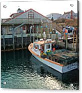 Fishing Boat At Chatham Fish Pier Acrylic Print