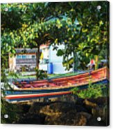 Fishing Boat At Rest  Acrylic Print