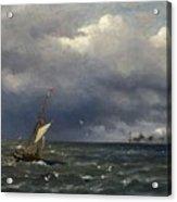 Fishing Boat At The Sea Acrylic Print