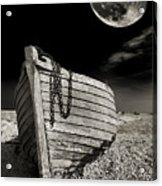 Fishing Boat Graveyard 3 Acrylic Print by Meirion Matthias