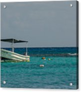 Scuba Boat On Turquoise Water Acrylic Print