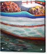 Fishing Boatgreek  Acrylic Print