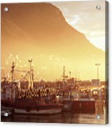 Fishing Boats At Dawn Kalk Bay South Africa Acrylic Print