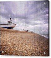 Fishing Boats At Dungeness Acrylic Print