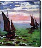 Fishing Boats At Sea Acrylic Print