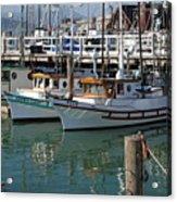 Fishing Boats In San Francisco Acrylic Print