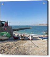 Fishing Boats In Sennen Cove Acrylic Print