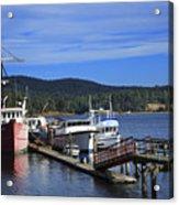 Fishing Boats In Sooke Acrylic Print