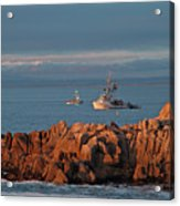 Fishing Boats On Monterey Bay Acrylic Print