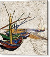 Fishing Boats Van Gogh Digital Art Acrylic Print