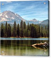 Fishing By Mount Lassen Acrylic Print
