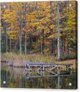 Fishing Dock In The Fall Acrylic Print
