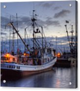 Fishing Fleet Acrylic Print by Randy Hall