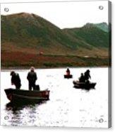 Fishing For Salmon - Karluck River - Kodiak Island Alaska Acrylic Print
