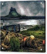 Fishing Gear At Lindisfarne. Acrylic Print