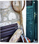 Fishing Gear In Primosten, Croatia Acrylic Print