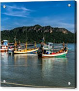 Fishing Harbour Acrylic Print