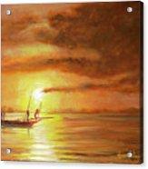 Fishing In Zanzibar Acrylic Print