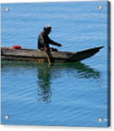 Fishing In Atitlan Lake Acrylic Print