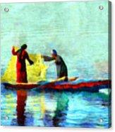 Fishing In The Nile Acrylic Print