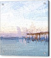 Fishing In Venice, Florida II Acrylic Print