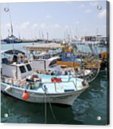 Fishing Industry In Limmasol Acrylic Print