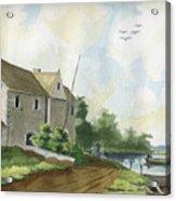 Fishing Lake Acrylic Print