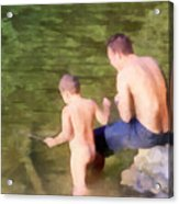 Fishing Lesson Acrylic Print