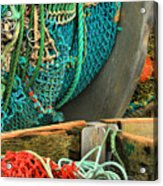 Fishing Net Portrait Acrylic Print