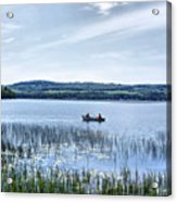 Fishing On Lake Carmi Acrylic Print