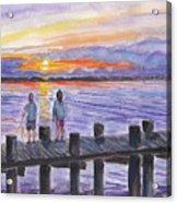 Fishing On The Dock Acrylic Print