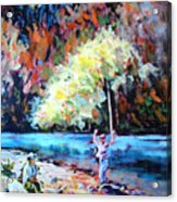 Fishing Painting Catch Of The Day Acrylic Print