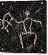 Fishing Petroglyph Acrylic Print