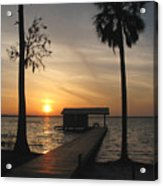 Fishing Pier At Dusk Acrylic Print