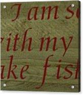 Fishing Rod Acrylic Print