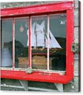 Fishing Shack Window 5998 Acrylic Print