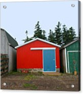Fishing Shacks  Prince Edward Island  Canada Acrylic Print