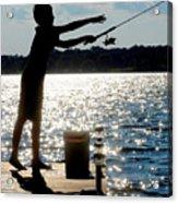 Fishing Silhouette Acrylic Print
