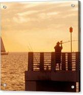 Fishing The Gulf Acrylic Print