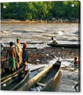 Fishing The River Magdalena Acrylic Print
