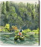 October Morning Fishing The Trinity River Acrylic Print