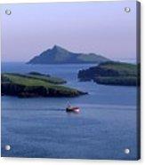 Fishing Trawler, Blasket Islands, Co Acrylic Print