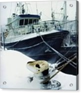 Fishing Trawler, Howth Harbour, Co Acrylic Print