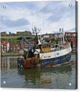 Fishing Trawler Wy 485 At Whitby Acrylic Print