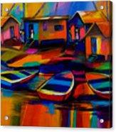 Fishing Village Acrylic Print