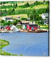 Fishing Village In Prince Edward Island Acrylic Print
