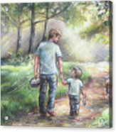 Fishing With My Dad  Acrylic Print by Laurie Shanholtzer