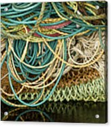 Fishnets And Ropes Acrylic Print